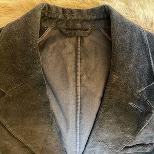 Theory Velvet Black 2 Button Men's Blazer 40R